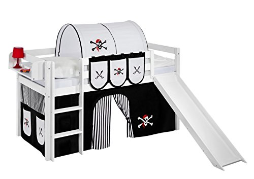 lilokids spielbett jelle pirat schwarz wei hochbett. Black Bedroom Furniture Sets. Home Design Ideas