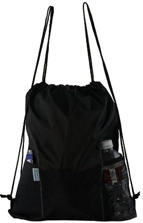 Dual Pocket Drawstring Backpack
