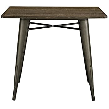 LexMod Alacrity Square Wood Dining Table, Brown, 36""