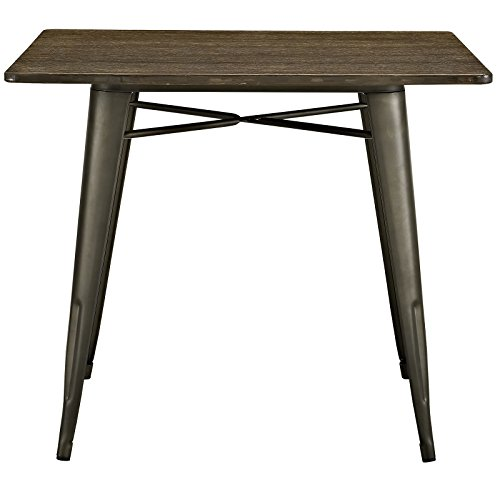 """LexMod Alacrity Square Wood Dining Table, Brown, 36"""" 2"""