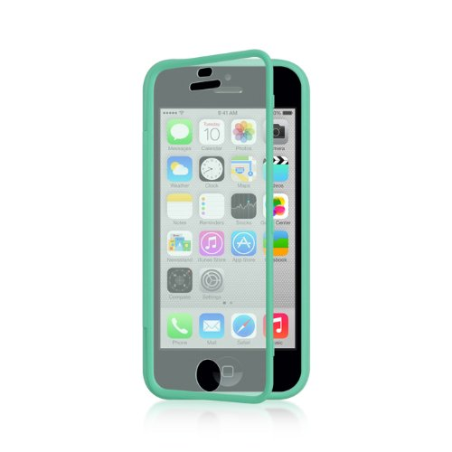 Dream Wireless Wrap-Up With Screen Protector Case For Iphone 5C - Retail Packaging - Teal