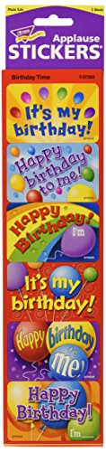 Trend Enterprises Applause Stickers, Birthday Time (T-47303)