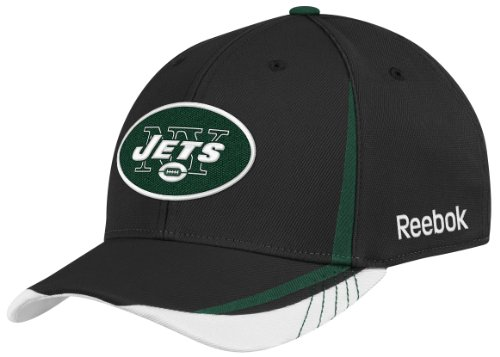 NFL New York Jets Sideline Flex-Fit Draft Hat, Black, Large/X-Large at Amazon.com