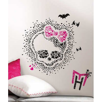 (27x40) Monster High Heart Skullette Peel & Stick Wall Decals