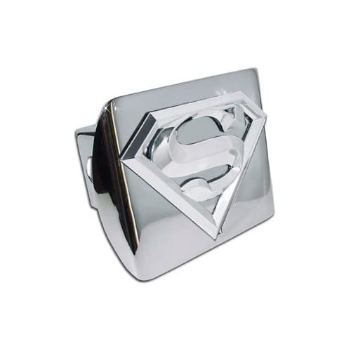 Superman 3D Logo and Chrome Metal Trailer Hitch Cover