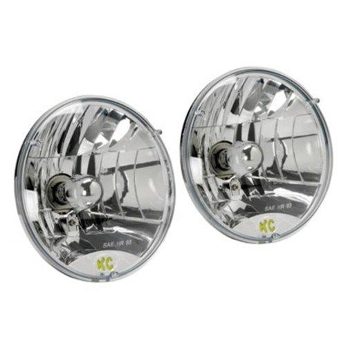 "Kc Hilites #42301 Headlight Headlamp - 7"" Round Lexan 55 / 60W H4 Pair Of 2 Lights"