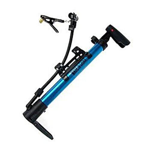 Aluminium Alloy Mini Portable Bike Bicycle Air Pump Tire Inflator Blue