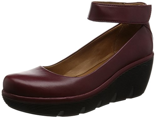 clarks-womens-wedge-ankle-strap-pumps-shoes-clarene-tide-burgundy-leather