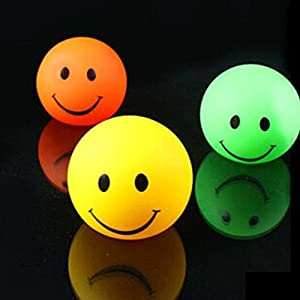 Domire Pack of 3 Color Changing Desk Bedroom Party Wedding Lamp LED Night Light,Smiling face by Domire