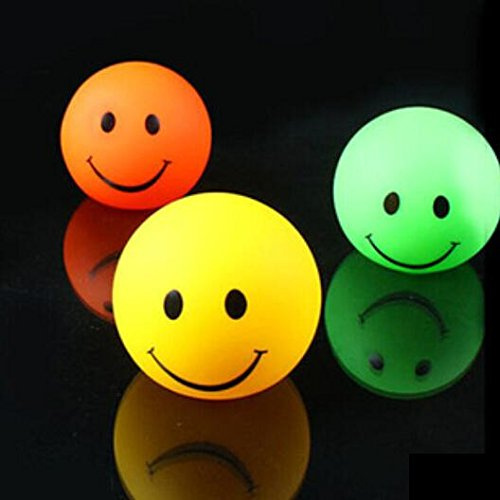 Domire Pack Of 3 Color Changing Desk Bedroom Party Wedding Lamp Led Night Light,Smiling Face