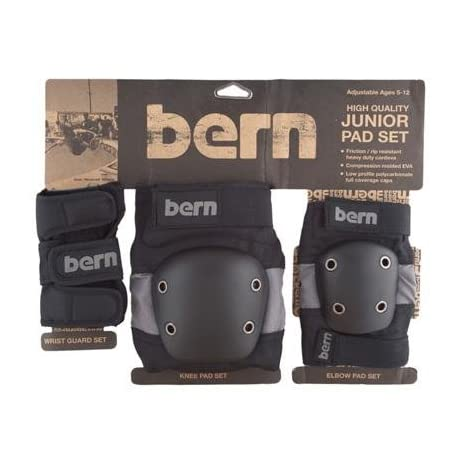 Bern 2015 Junior Elbow/Knee/Wrist Skate/BMX Pad Set