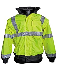 High Visibility Class III Jacket with Removable Lining - X-Large