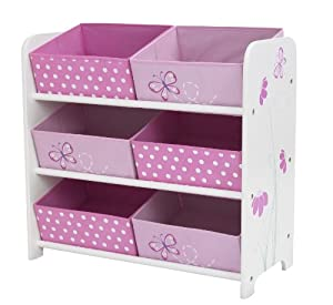 Worlds apart papillons et fleurs meuble de rangement 6 - Meuble rangement jouet enfant ...