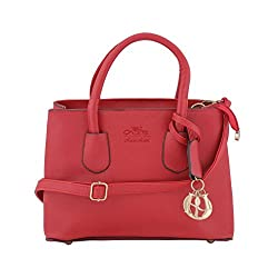Jewlot Dark Red PU Women's Handbags 1068