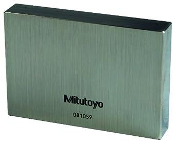 """Mitutoyo 611195-516 Steel Rectangular Gage Block, ASME Grade K, 0.50"""" Length"""