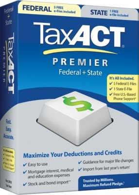 2010 TaxACT Premier Federal + State + eFiles
