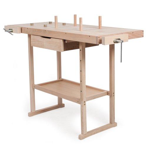 Tectake banco de trabajo de madera con tornillos de banco for Ofertas de empleo banco exterior