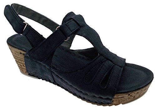 sandalo aperto nabuk blu zeppa art 10521 40 blu