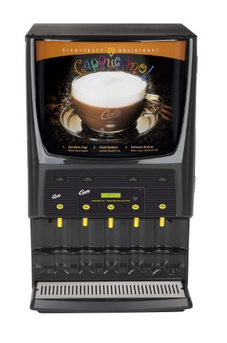 Wilbur Curtis G3 System 5 Station Cappuccino (Three 5 Lb And Two 10 Lb Hopper) - Commercial Cappuccino Machine - PCGT5 (Each)