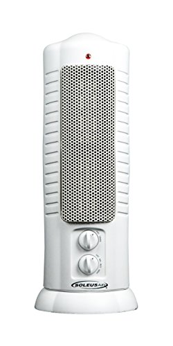 Soleus Air # HE15-C7-01 Ceramic Tower Heater, 750W/1500Watts, White