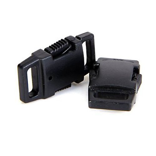 EK 50pcs Side Release Plastic Buckles 3/8 Inch Black, Great Accessories for Webbing, Dog Collar, Paracord Bracelets