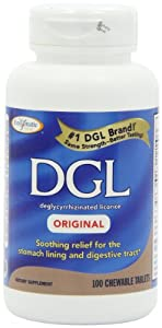 Enzymatic Therapy Dgl Chewables, Original, 100 Tablets