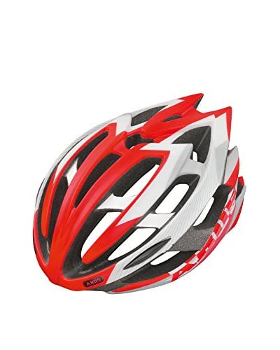 ABUS Casco da Bicicletta Tec-Tical Bianco/Rosso 54-58 cm