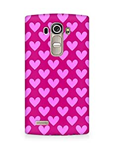 Amez designer printed 3d premium high quality back case cover for LG G4 (Cool Hearts Pattern1)
