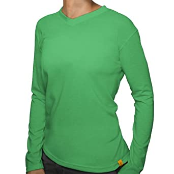Women's Wicking Long-Sleeve Activewear Shirt by Sport Science - Green - Large