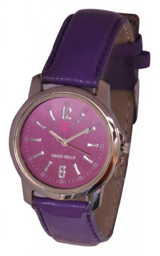 Svviss Bells Trendy Purple Dial Watch for Women