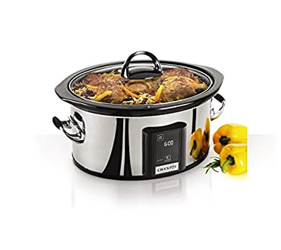 Crock-Pot Best Programmable Slow Cooker 6.5 Quart Digital Touchscreen Slow Cookers Program Cooking Time from Crock-Pot