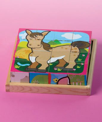 6 Farm Animal In One Fun Cube Puzzles