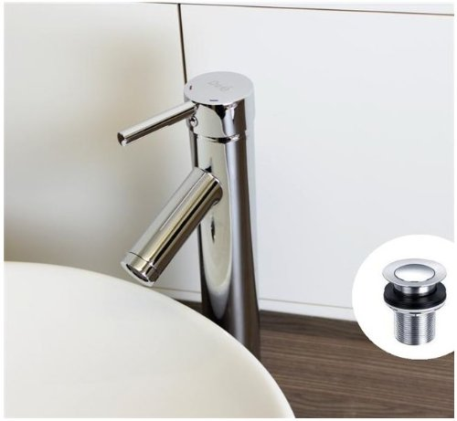 Chrome Blanc Tall Counter Top Bathroom Sink Basin Mixer Tap