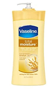 Vaseline Total Moisture, Body Lotion, Pure Oat Extract, Packaging May Vary, 20.3 Fl  Oz. . (Pack of 3)
