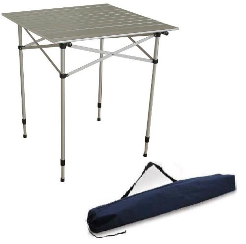 2 4 Person Heavy Duty Aluminum Roll Up Top Folding Camping Table TA