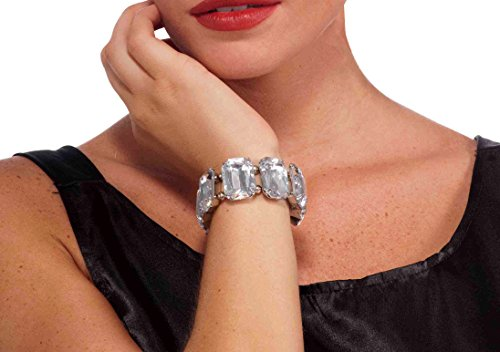 silver Forum Novelties Women's Vintage Hollywood Rhinestone Bracelet