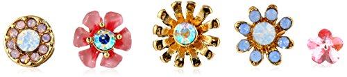 """Betsey Johnson """"Spring Glam"""" Flower 5-Set Stud Earrings front-863292"""