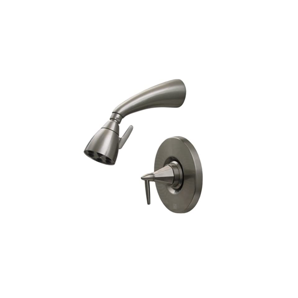 Whitehaus 614.858SH ACO Blairhaus Monroe 2 5/8 Inch Pressure Balance Valve with Showerhead and Octagon Shaped Lever Handle, Antique Copper