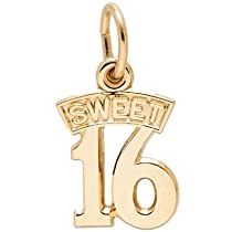 Hot Sale Rembrandt Charms Sweet 16 Charm, 14K Yellow Gold