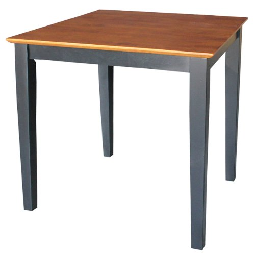 International Concepts Solid Wood Dining Table With Shaker Legs, 30 By 30 By 30-Inch, Black/Cherry front-746025