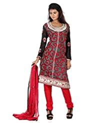 B3Fashion Semi Stitched Silk Party Wear Designer Salwar Suit With Full Body Heavy Embroidery Work And Neck Line...