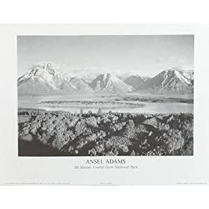 (8x10) Ansel Adams Mt Moran Grand Teton National Park Art Photo Poster Print