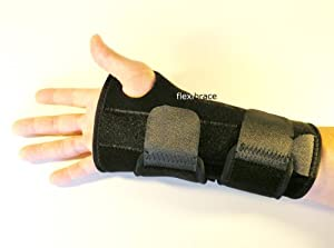 Flexibrace Carpal Tunnel Wrist Brace Support w  Splint (LEFT HAND (ONE SIZE)) by Flexibrace