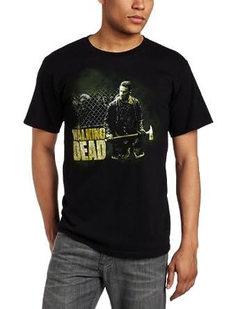 FEA Merchandising Men's The Walking Dead It's Axing Time Tee, Black, Small