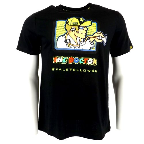 2014 Official Valentino Rossi Vr46 The Doctor Moto Gp T-Shirt Black