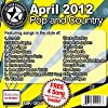 All Star Karaoke April 2012 Pop and Country Hits (ASK-1204)