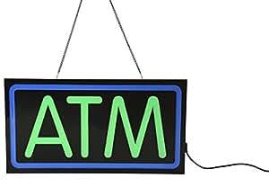 Amazon.com : ATM Regístrate para tienda Ventana, LED Letrero luminoso