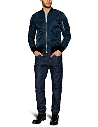 Schott Nyc Ac - Blouson - Teddy - Manches longues - Homme - Bleu (Navy) - XX-Large (Taille fabricant: XXL)