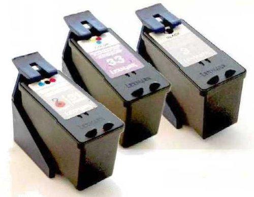 MyNewInk kompatibel schwarz + color + Foto-Tintenpatronen / Ersetzen Lexmark 32 + 33 + 31 Druckpatronen