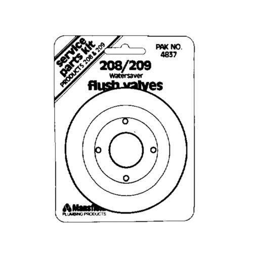 Mansfield 4837 Replacement Seal Flush Valve Service Pack, For 208 & 209 Flush Valve